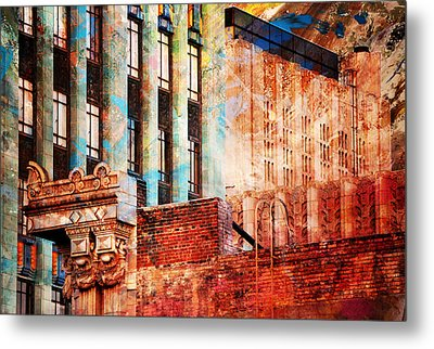 Rooftop With Vintage Colors Metal Print by John Fish