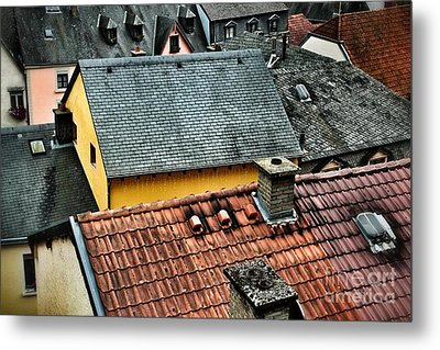Metal Print featuring the photograph Rooftops by Nick  Biemans