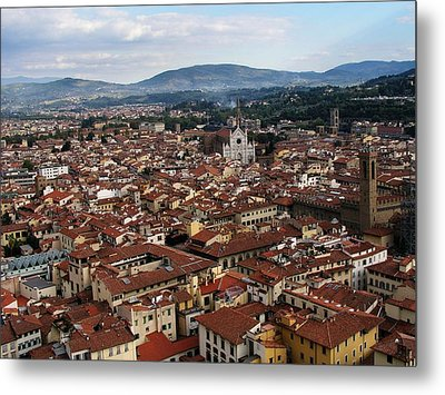 Rooftops Of Florence Metal Print by David and Mandy