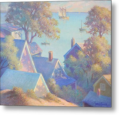 Rooftops Of Provincetown Harbor Metal Print by Ernest Principato
