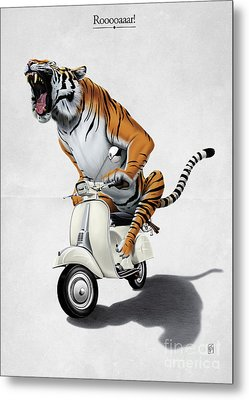 Rooooaaar Metal Print by Rob Snow