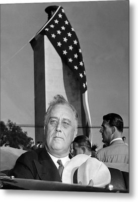 Roosevelt At Gettysburg Metal Print by Underwood Archives