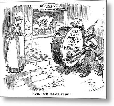 Roosevelt Cartoon, 1908 Metal Print by Granger