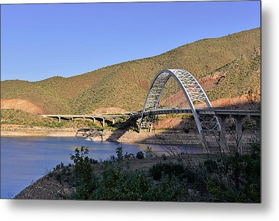 Roosevelt Lake Bridge Arizona Metal Print by Christine Till