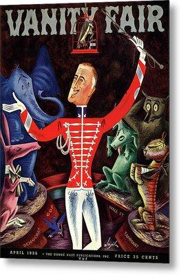 Roosevelt The Ringleader Metal Print by Constantin Alajalov