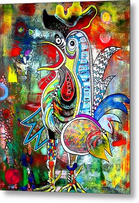 Rooster Metal Print by Amy Sorrell