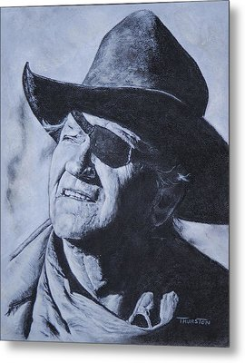 Rooster Cogburn Metal Print by Denise Thurston Newton