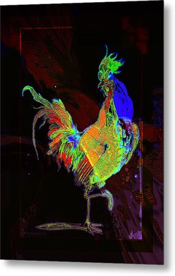 Rooster Metal Print by Mimulux patricia no No