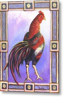 Rooster Prince Metal Print by Linda Mears