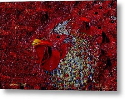 Rooster Red Metal Print