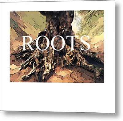 Metal Print featuring the digital art Roots by Bob Salo