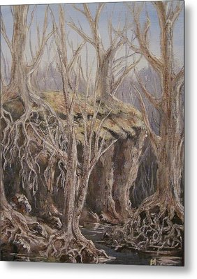 Metal Print featuring the painting Roots by Megan Walsh