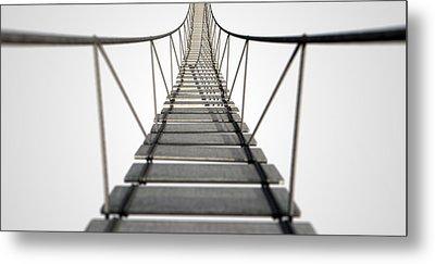 Rope Bridge Metal Print by Allan Swart