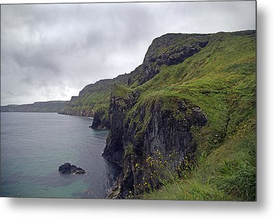 Rope Bridge Paradise Ireland Metal Print