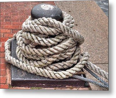 Rope Coil 1 Metal Print by Deborah Smolinske