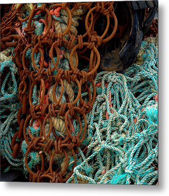 Ropes And Rusty Wires Metal Print by Dorin Adrian Berbier