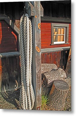 Ropes And Woods Metal Print by Barbara McDevitt
