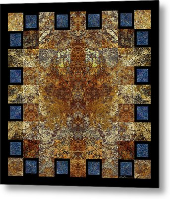 Rorshach Yantra Nine Oh Four Metal Print by Bruce Ricker