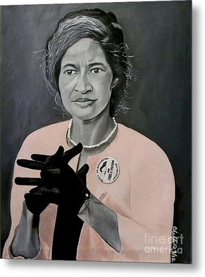 Rosa Parks Metal Print by Chelle Brantley