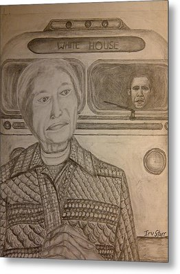 Rosa Parks Imagined Progress Metal Print by Irving Starr