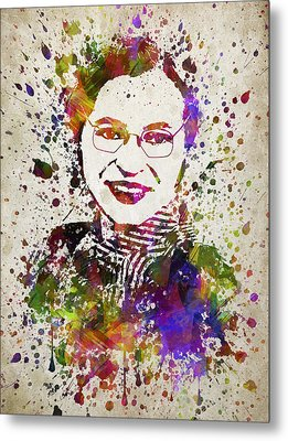 Rosa Parks In Color Metal Print by Aged Pixel
