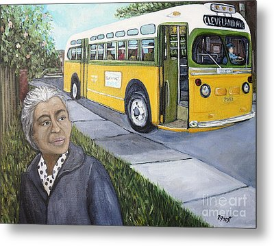 Rosa Parks Metal Print by Reb Frost