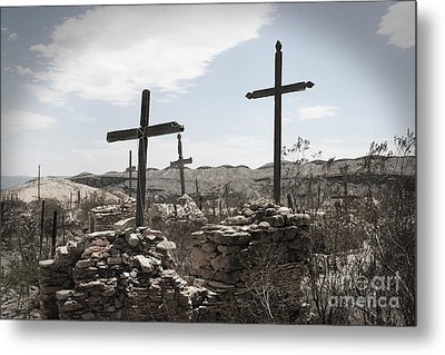 Rosary For The Dead Metal Print by April Davis