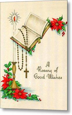 Rosary Good Wishes Metal Print by Munir Alawi