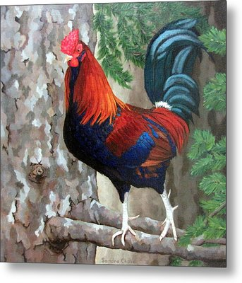 Roscoe The Rooster Metal Print