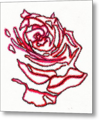 Rose 3 Metal Print by Christine Perry