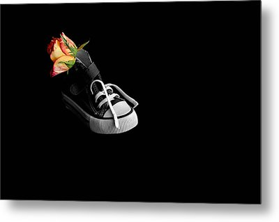 Rose And Shoe Metal Print by Marwan Khoury