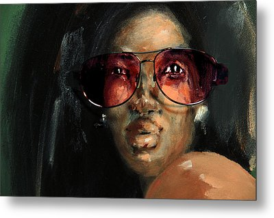 Rose Colored Glasses Metal Print