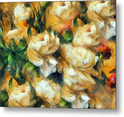 Rose Garden Abstract Expressionism Metal Print by Georgiana Romanovna