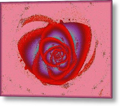 Rose Heart Metal Print by Anastasiya Malakhova