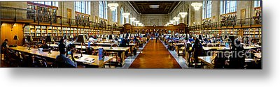 Rose Main Reading Room New York Public Library Metal Print by Amy Cicconi