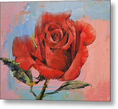 Rose Painting Metal Print by Michael Creese