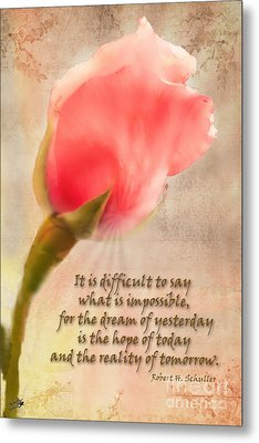 Rose Of Hope Metal Print