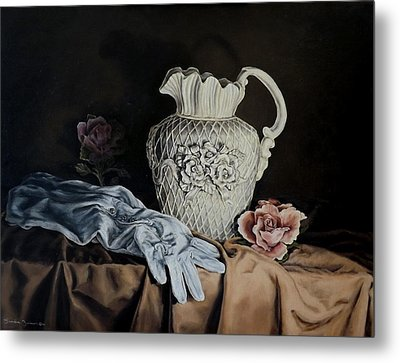 Rose Pitcher Metal Print