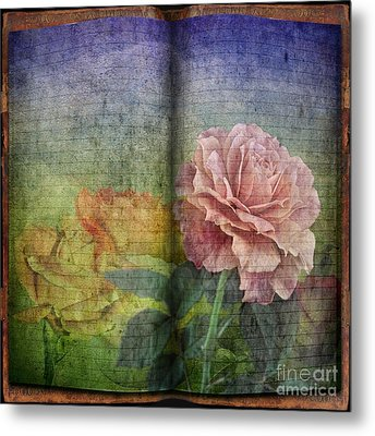 Metal Print featuring the digital art Rose Poem by Shirley Mangini