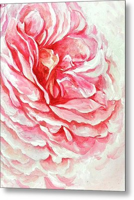 Metal Print featuring the painting Rose Reflection 3 by Sandra Phryce-Jones