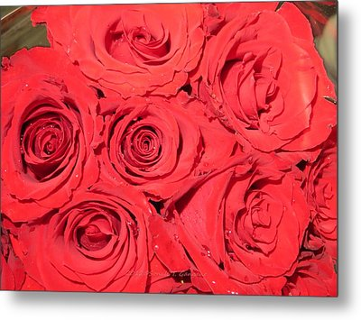 Rose Swirls Metal Print by Sonali Gangane