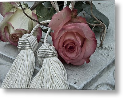 Metal Print featuring the photograph Roses And Tassels by Sandra Foster