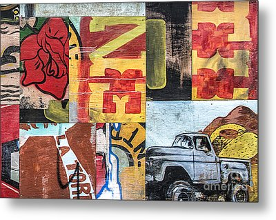 Roses And Trucks Metal Print by Terry Rowe