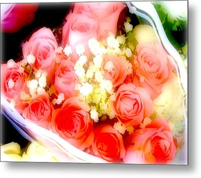 Metal Print featuring the photograph Roses Are Red. by Ira Shander