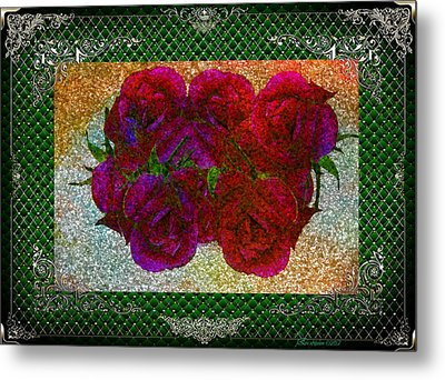 Roses- Featured In Beautiful Roses And Comfortable Art Groups Metal Print by EricaMaxine  Price