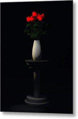 Metal Print featuring the digital art Roses For Sk... by Tim Fillingim