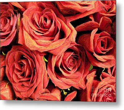 Roses For Your Wall  Metal Print by Joseph Baril