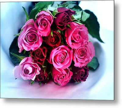 Roses From My Heart Metal Print
