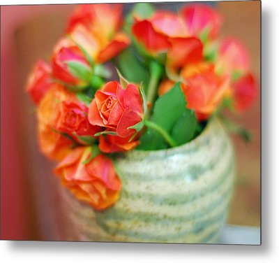 Metal Print featuring the photograph Roses by Lisa Phillips