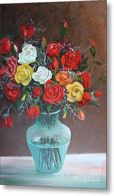 Roses Metal Print by Marta Styk